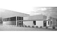 3D black and white photo of AVON warehouse & distribution facility