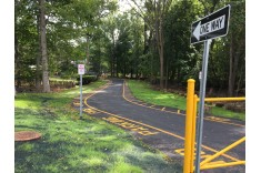Driveway at Luther Lee Emerson Elementary School in Demarest, NJ