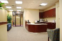 New Jersey Bankers Association reception desk and waiting area