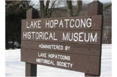Lake Hopatcong State Park historical museum sign